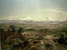 La vallée de Mexico ou furent faites ces découvertes